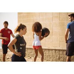 Balon Cross Training Pilates Domyos Negro/Rojo 9 Kg Balón Lastrado Wall Ball