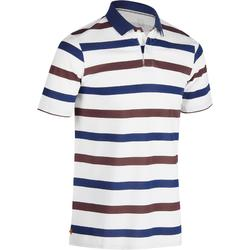 520 Men's Golf Short Sleeve Warm Weather Polo - Blue Burgundy Stripes
