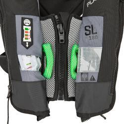 Rettungsweste Segeln automatisch aufblasbar SL180 + Gurtsystem