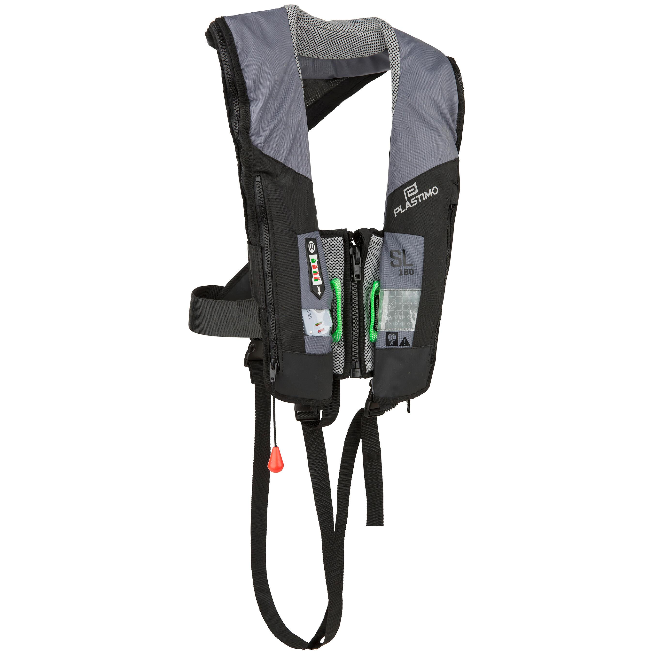Plastimo Automatisch reddingsvest voor volwassenen, voor zeilen, SL180 + harnas