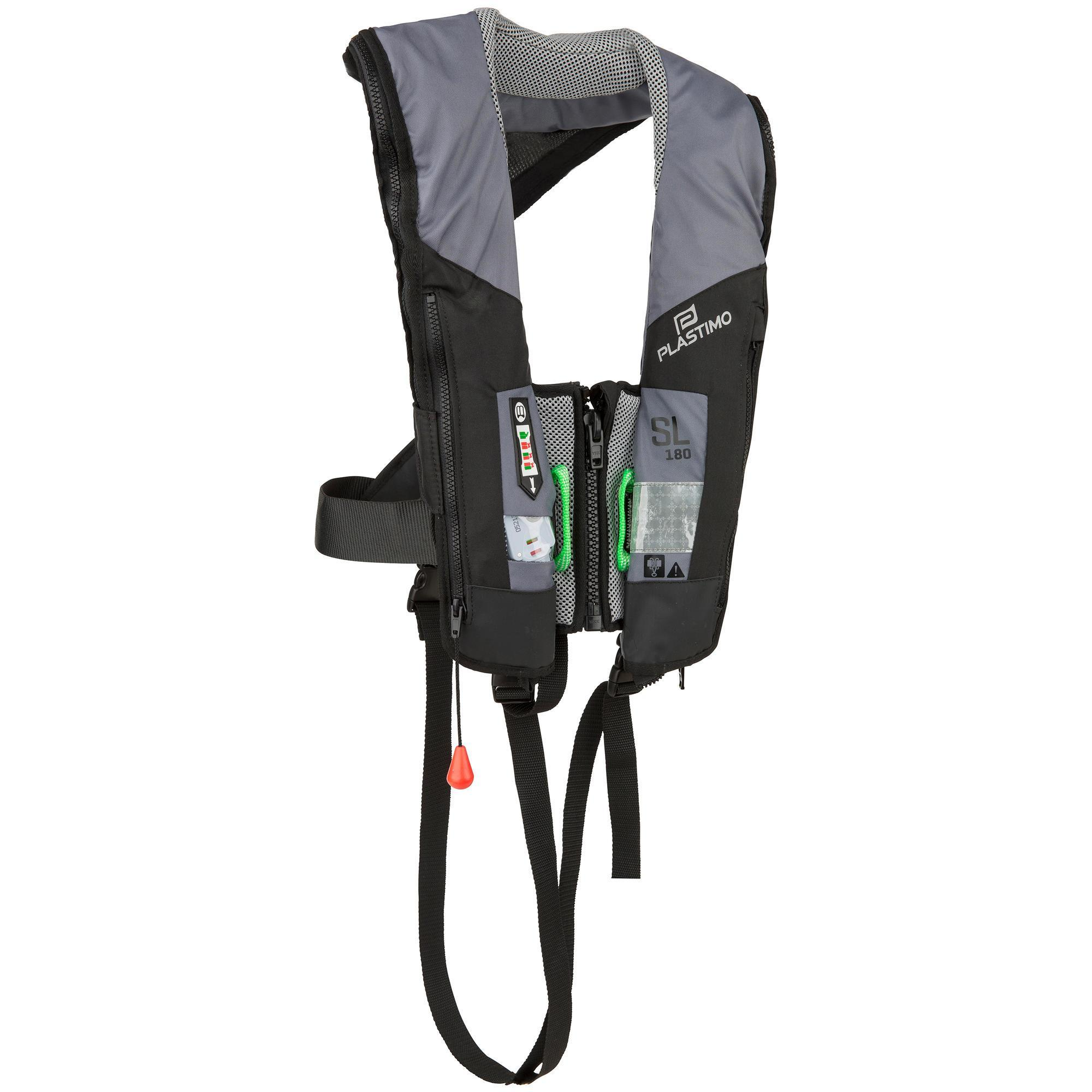 Rettungsweste Segeln automatisch aufblasbar SL180 + Gurtsystem Erwachsene | Sportbekleidung > Sportwesten | Co | Plastimo