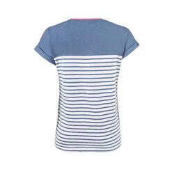 T-Shirt Marinière femme SAILING 100 Bleu gris