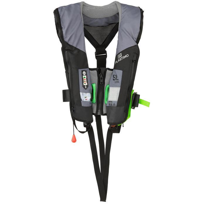 Zelfopblazend reddingsvest voor volwassen zeilers SL180 UML Pro Sensor +harnas