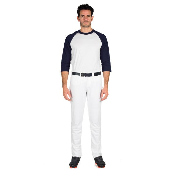 Tee shirt de baseball pour adulte 3/4 BA 550 blanc et - 1319299