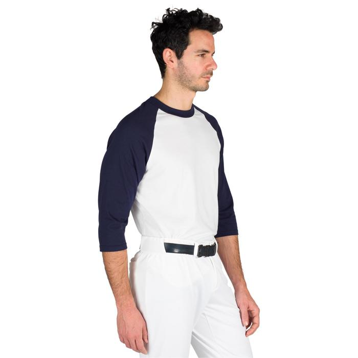 Tee shirt de baseball pour adulte 3/4 BA 550 blanc et - 1319301