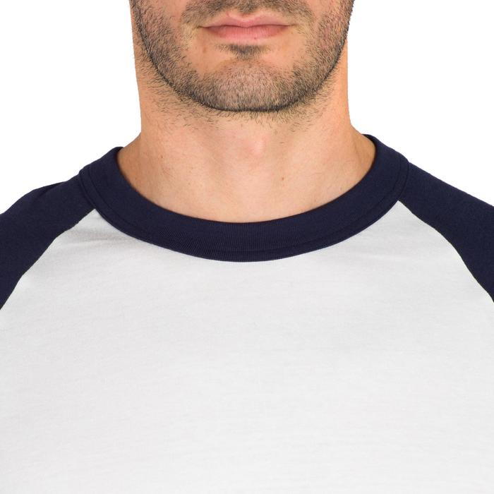Tee shirt de baseball pour adulte 3/4 BA 550 blanc et - 1319302