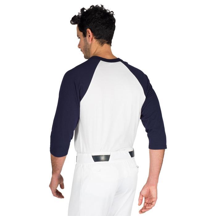 Tee shirt de baseball pour adulte 3/4 BA 550 blanc et - 1319303