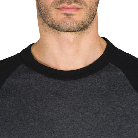 Playera de béisbol para adultos 3/4 BA 550 Gris oscuro gris