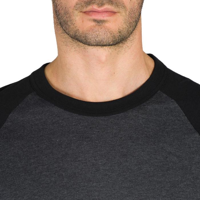 Honkbalshirt 3/4 voor volwassenen BA 550 donkergrijs