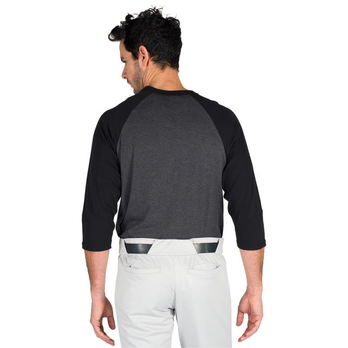 Tee shirt de baseball pour adulte 3/4 BA 550 blanc et - 1319309