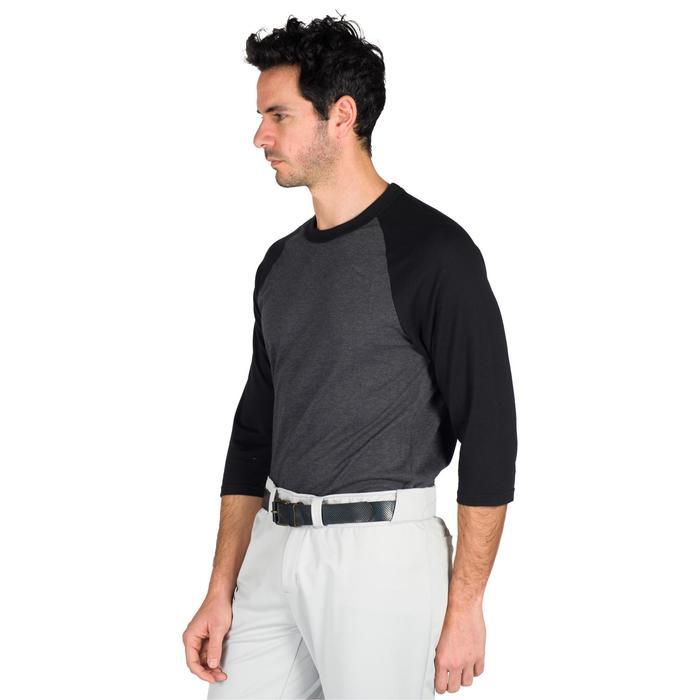 Tee shirt de baseball pour adulte 3/4 BA 550 blanc et - 1319310