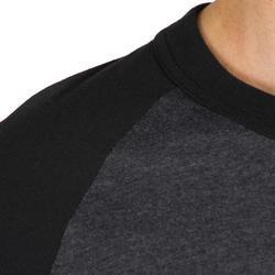 Camiseta Béisbol Kipsta 3/4 BA 550 Adulto Gris Negro