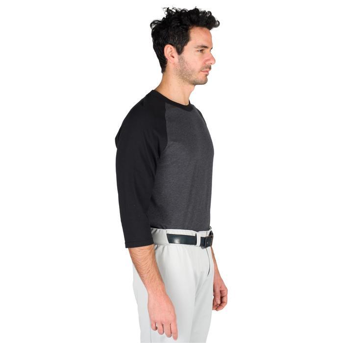 Camiseta de béisbol para adultos 3/4 BA 550 Gris oscuro gris