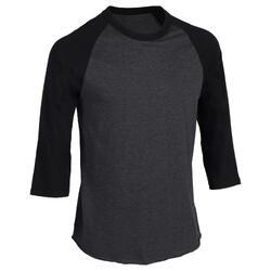 Tee shirt de baseball pour adulte 3/4 BA 550 blanc et