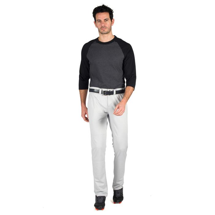 Tee shirt de baseball pour adulte 3/4 BA 550 blanc et - 1319314