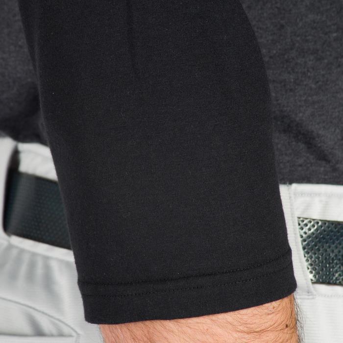 Baseball-Shirt BA 550 ¾-Arm Erwachsene dunkelgrau