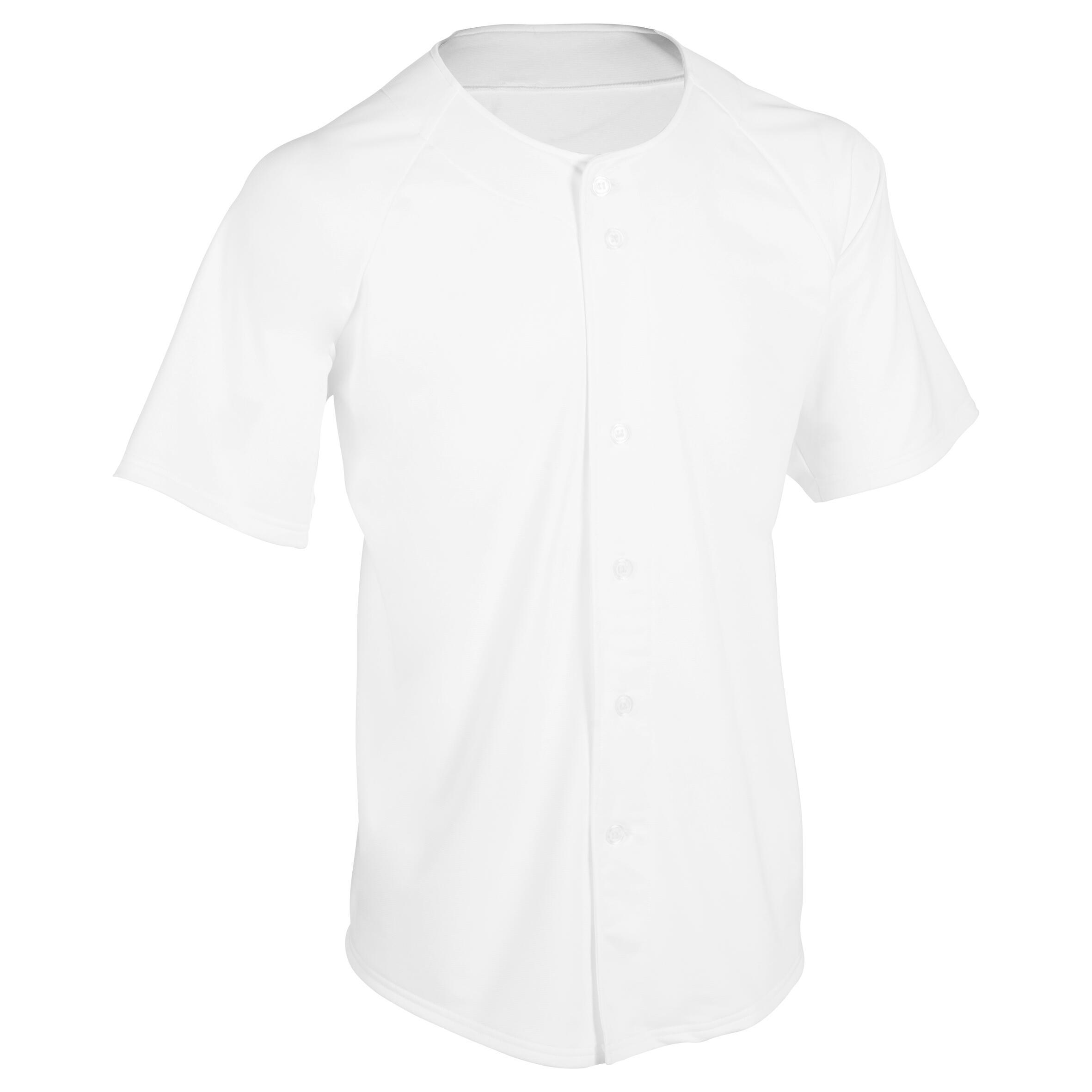 Kipsta Baseballshirt volwassenen BA 550 wit