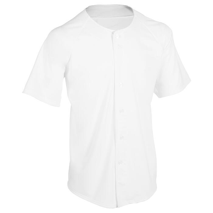 Baseballshirt volwassenen BA 550 wit