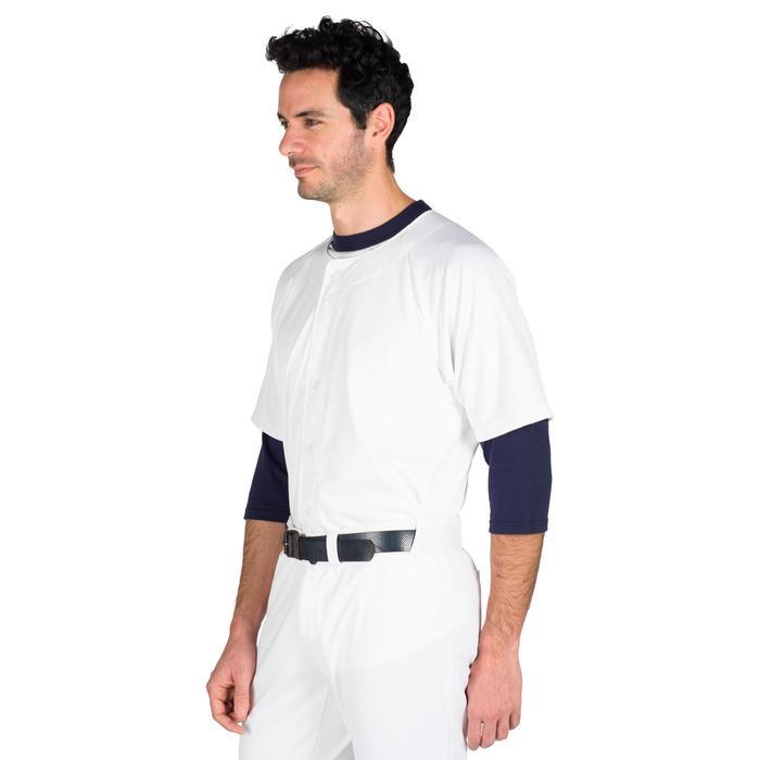 Baseballshirt voor volwassenen BA 550 wit