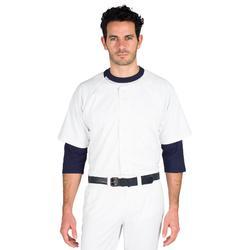 Camiseta manga corta de béisbol para adultos BA 550 blanco