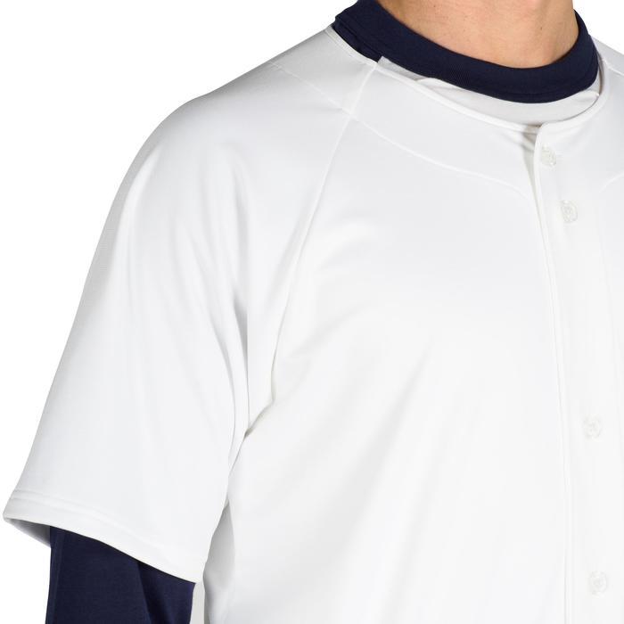 Baseballtrikot BA 550 Erwachsene weiß