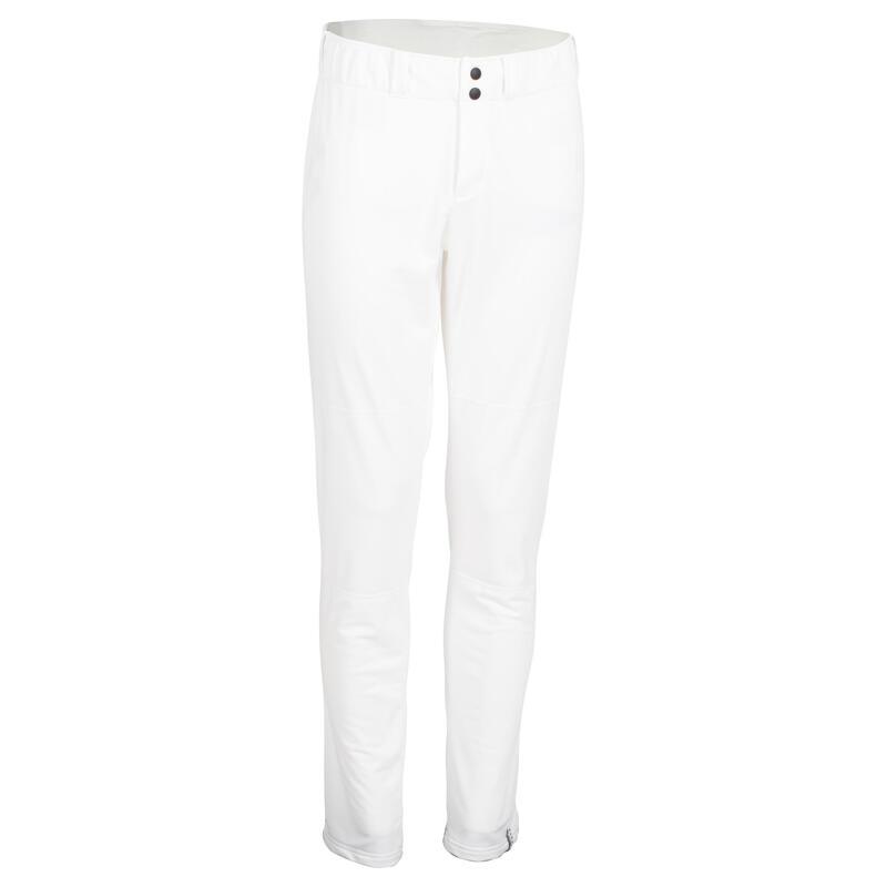 Pantalon Baseball BA 550 Alb Adulţi