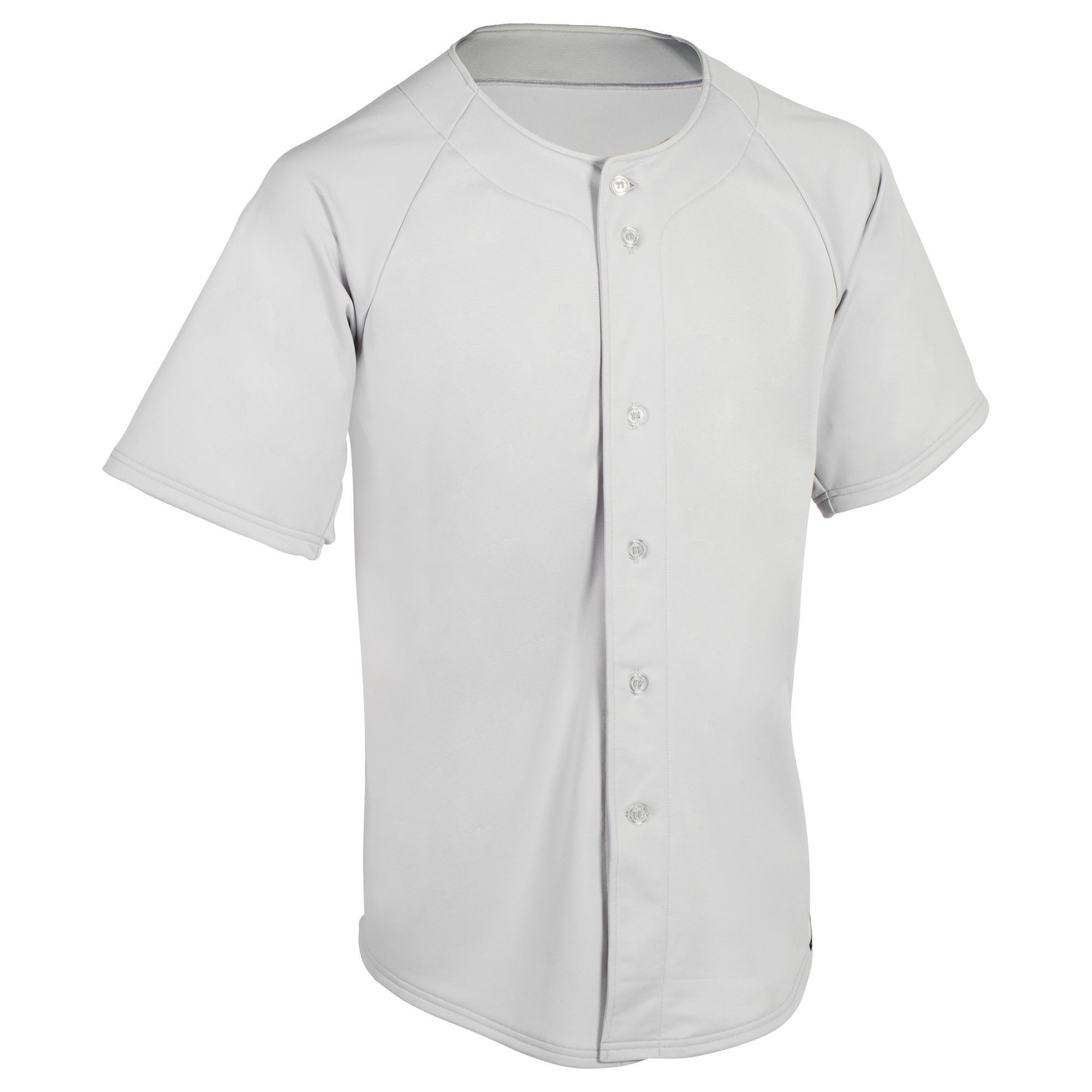 Kipsta Baseballshirt volwassenen BA 550 grijs