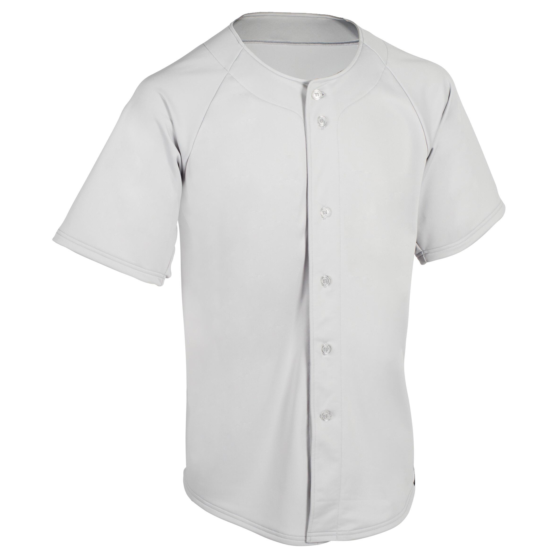 Kipsta Honkbalshirt voor volwassenen BA 550 grijs