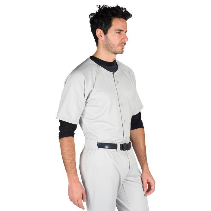 Baseballshirt voor volwassenen BA 550 grijs