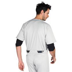 Baseballtrikot BA 550 Erwachsene grau