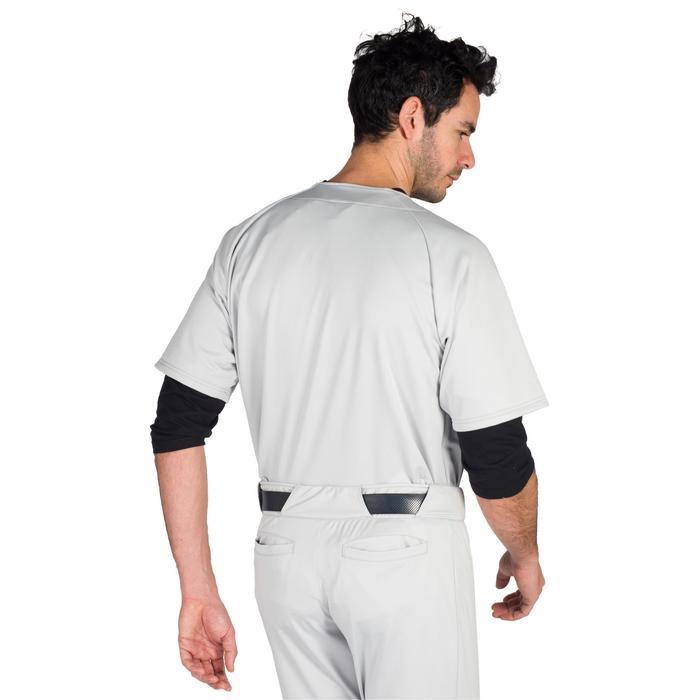 Camiseta de manga corta de béisbol para adultos BA 550 gris
