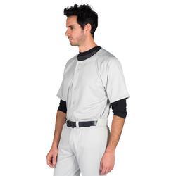 Honkbalshirt voor volwassenen BA 550 grijs