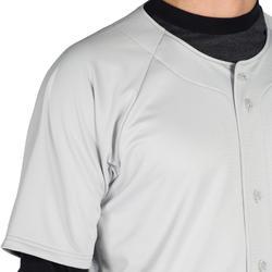 Camiseta Nanga Corta Béisbol Kipsta BA 550 Adulto Gris
