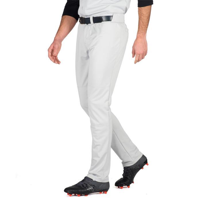 Honkbalbroek voor volwassenen BA 550 grijs