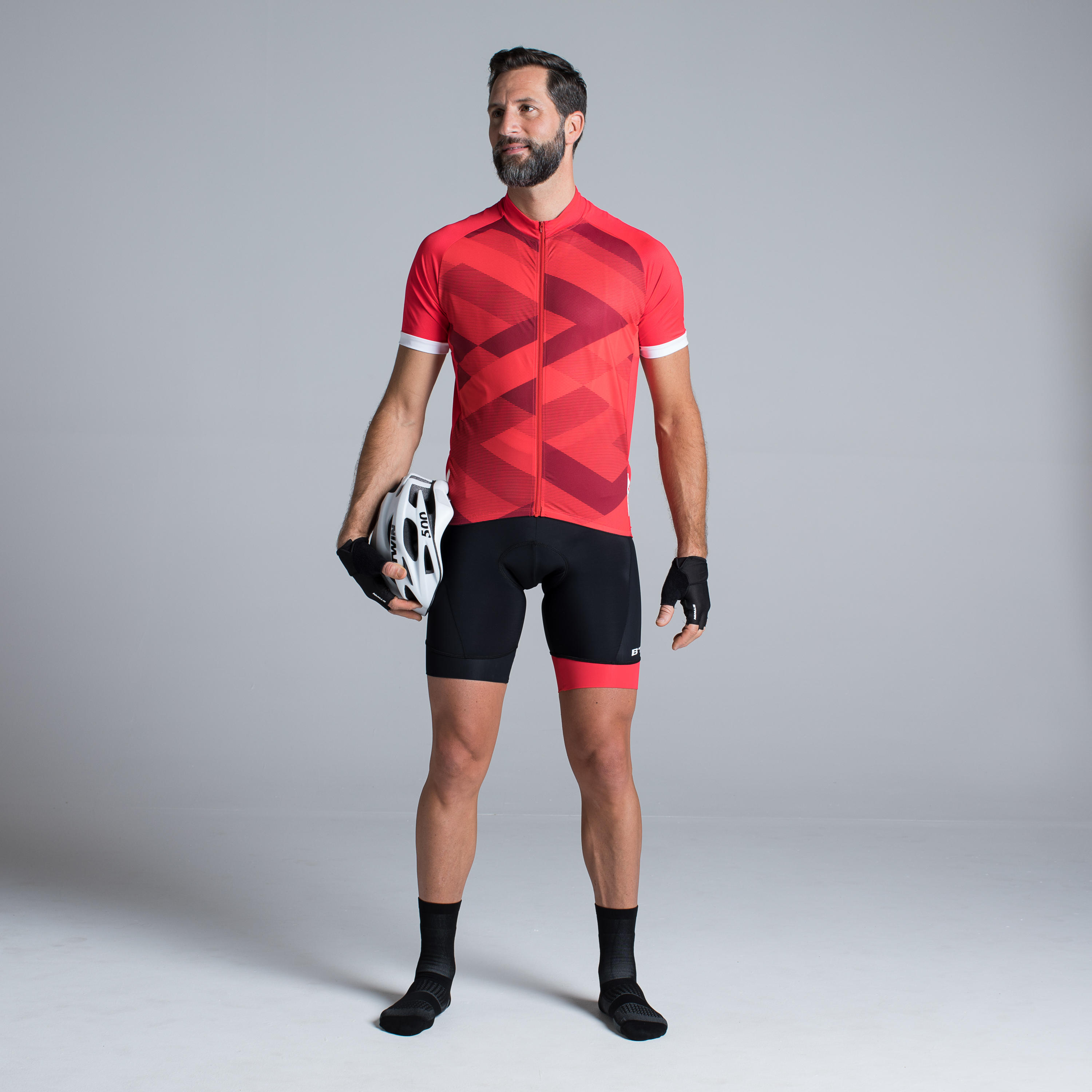 500 X Short-Sleeved Road Cycling Jersey - Red