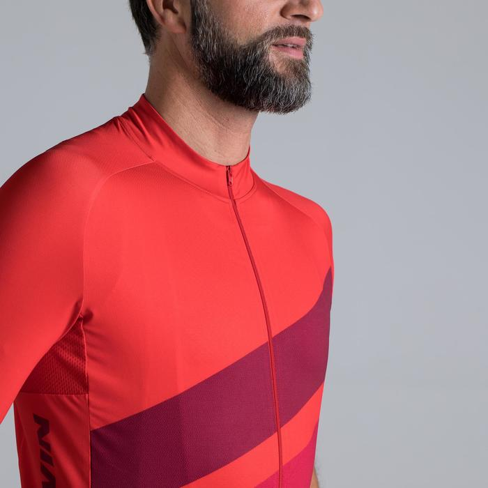 MAILLOT VELO ROUTE MANCHES COURTES HOMME ROADCYCLING 500 ROUGE