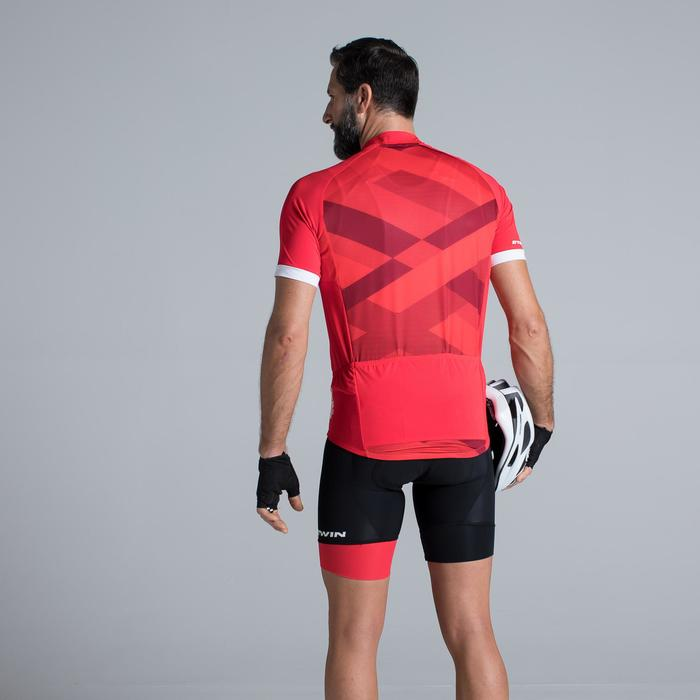 MAILLOT VELO MANCHES COURTES HOMME CYCLOTOURISTE 500 X ROUGE