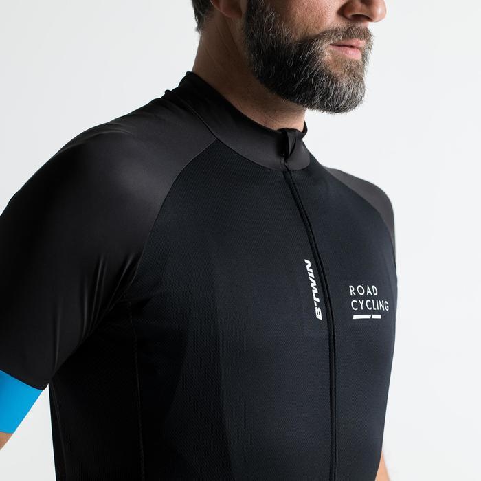 Kurzarm-Radtrikot Rennrad 900 Herren schwarz/blau