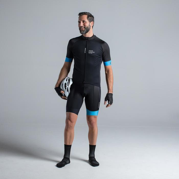 MAILLOT VELO ROUTE MANCHES COURTES HOMME ROADCYCLING 900 NOIR