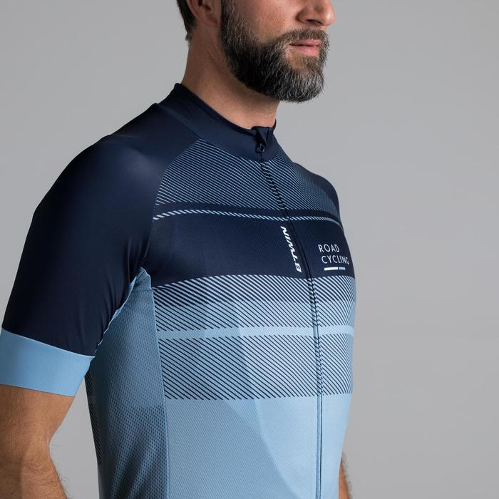 MAILLOT VELO ROUTE MANCHES COURTES HOMME ROADCYCLING 900  XRED NAVY - 1319674