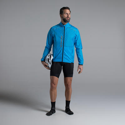 Impermeable ciclismo hombre 300 azul