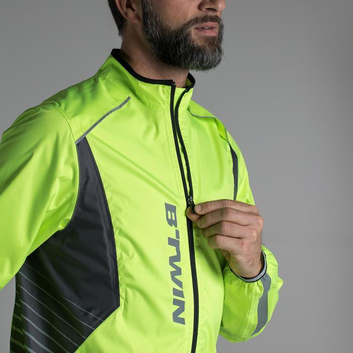 Fahrrad-Regenjacke Rennrad 500 Herren neongelb