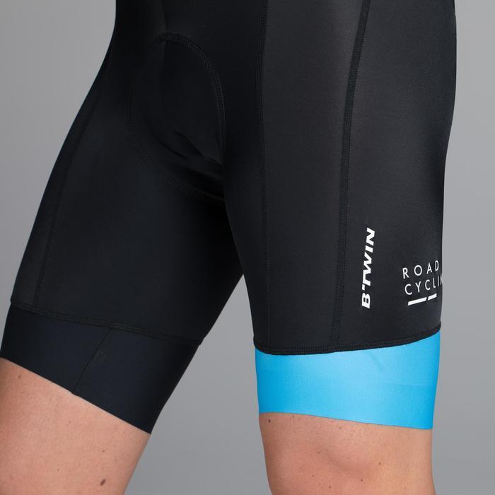 Kurze Fahrrad-Trägerhose Rennrad 900 Herren schwarz/blau