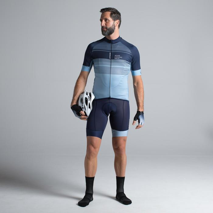 MAILLOT VELO ROUTE MANCHES COURTES HOMME ROADCYCLING 900  XRED NAVY - 1319712