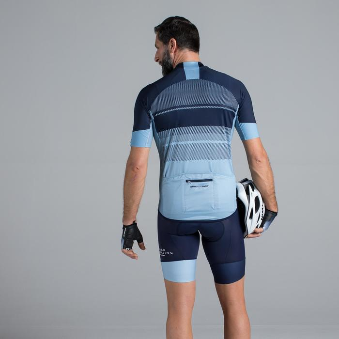 MAILLOT VELO ROUTE MANCHES COURTES HOMME ROADCYCLING 900  XRED NAVY - 1319716