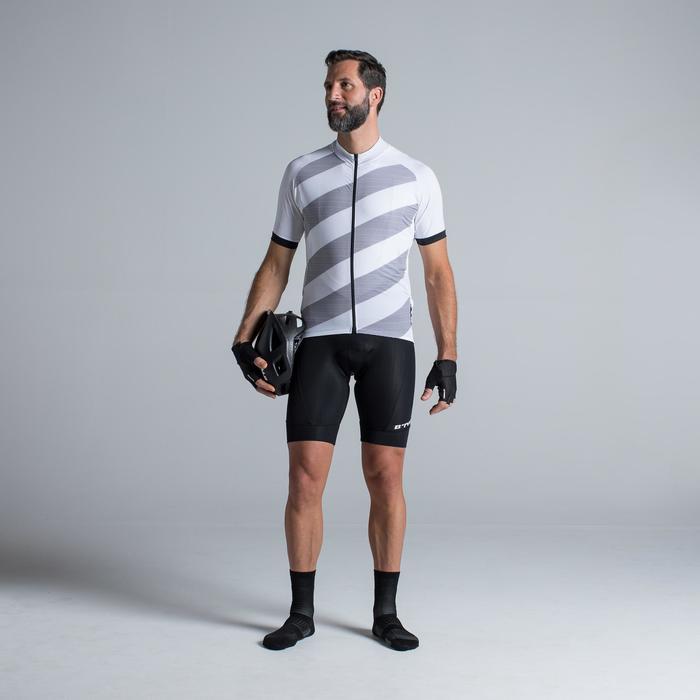 Kurze Radhose mit Trägern Rennrad 500 Herren schwarz