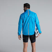 Men's Road Cycling Cycle Touring Waterproof Jacket 100 - Blue