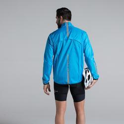 Fahrrad Regenjacke Rennrad RC 100 Herren blau