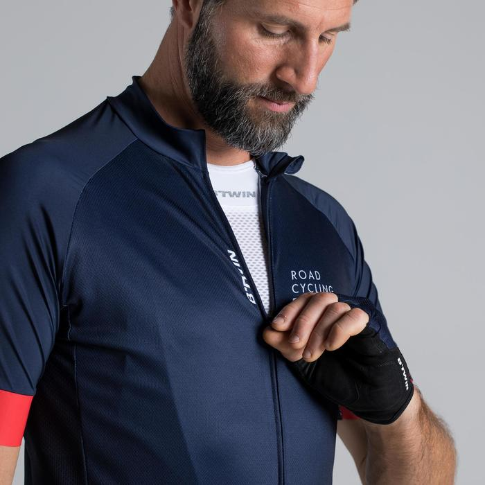 MAILLOT VELO ROUTE MANCHES COURTES HOMME ROADCYCLING 900  XRED NAVY - 1319730