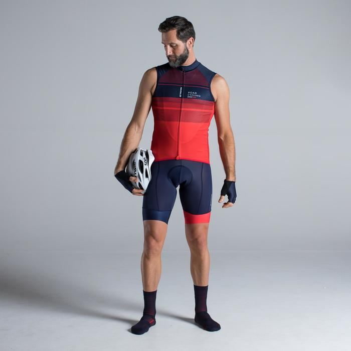 MAILLOT VELO SANS MANCHESHOMME ROADC 900 ROUGE NAVY